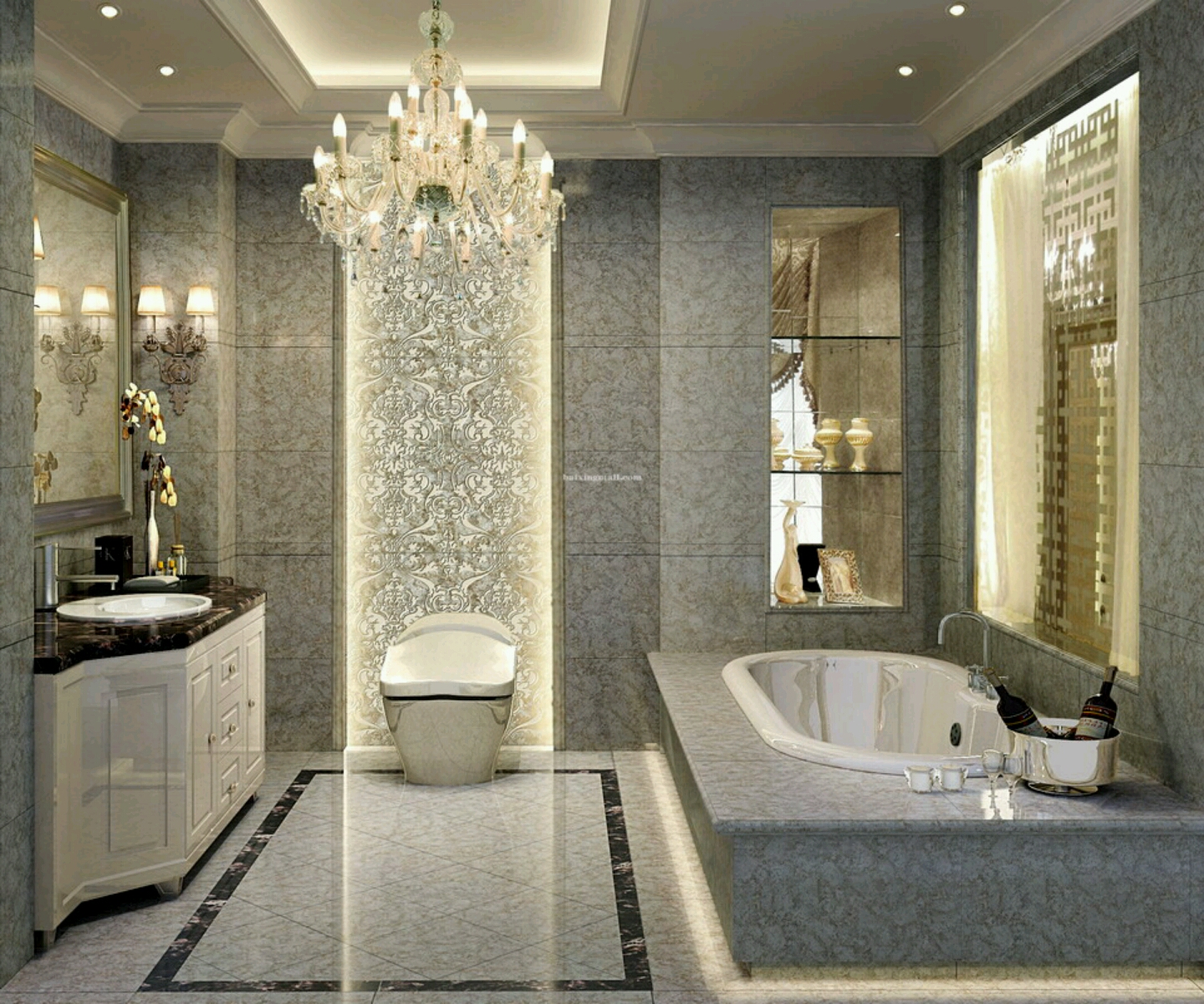 Luxury Bathroom Design 1440 x 1200