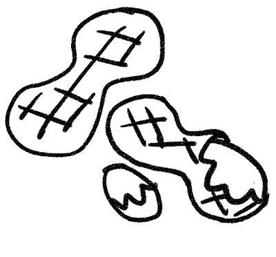 ピーナッツのイラスト モノクロ線画