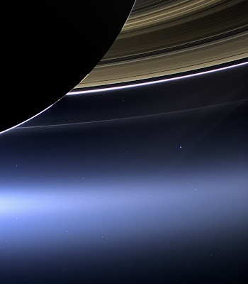 Earth from Saturn photo courtesy of NASA/JPL-Caltech/Space Science Institute