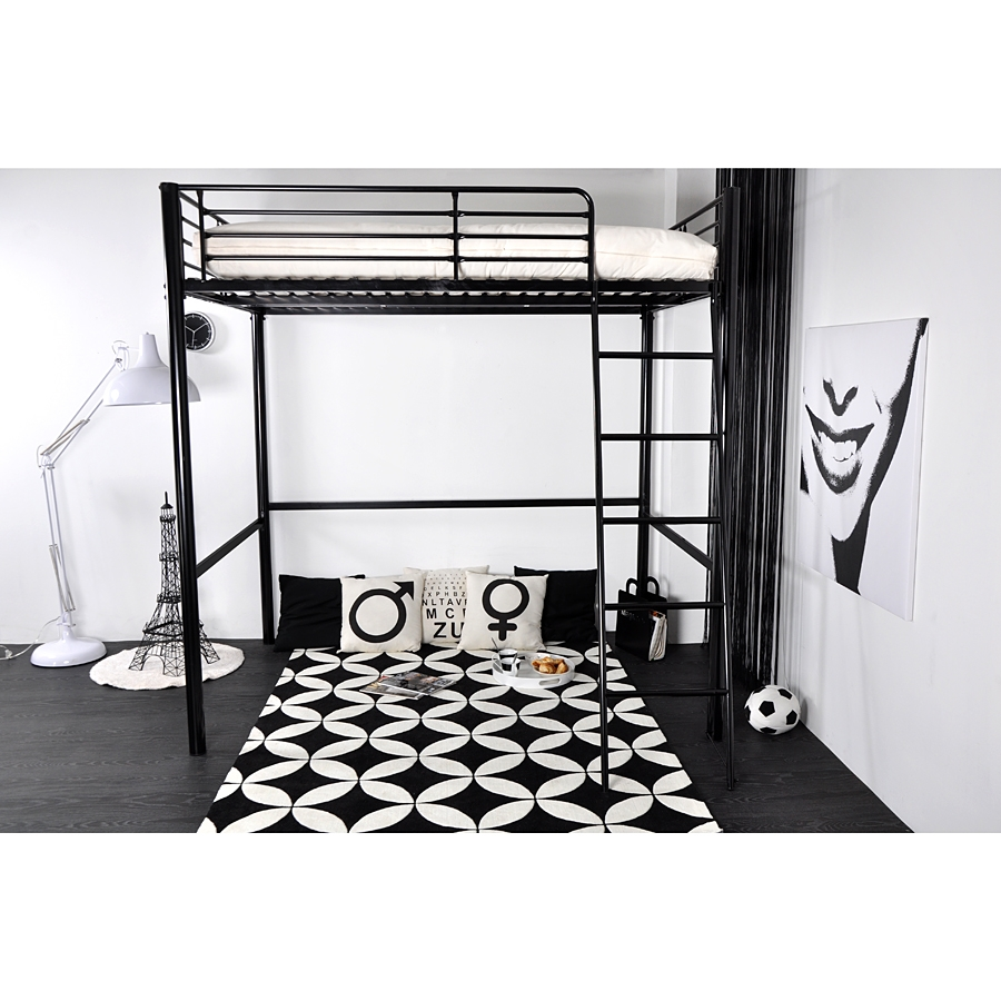 lit mezzanine en bois pratique et rustique lit. Black Bedroom Furniture Sets. Home Design Ideas