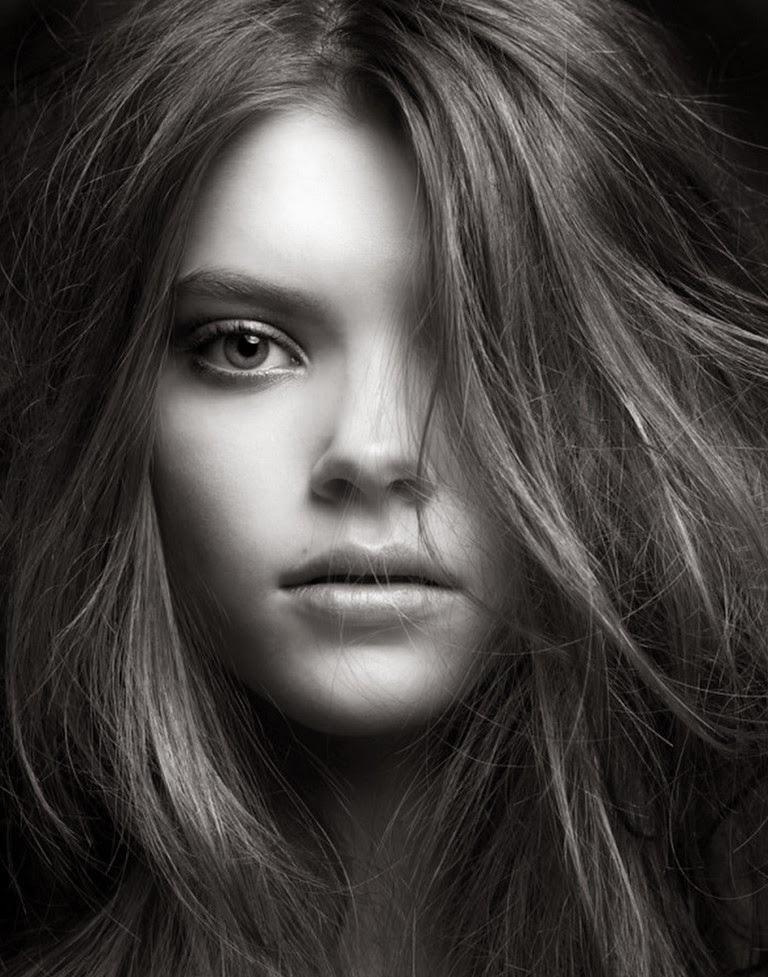 rostros-de-mujeres-bonitas-fotografías-en-blanco-y-negro