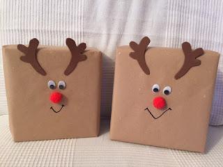 Decoracion De Regalos Para Navidad Reno Rudolph Manualidades Amelia