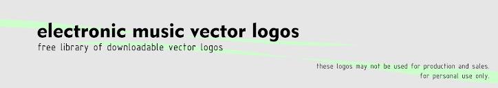 Vector logos of electronic music