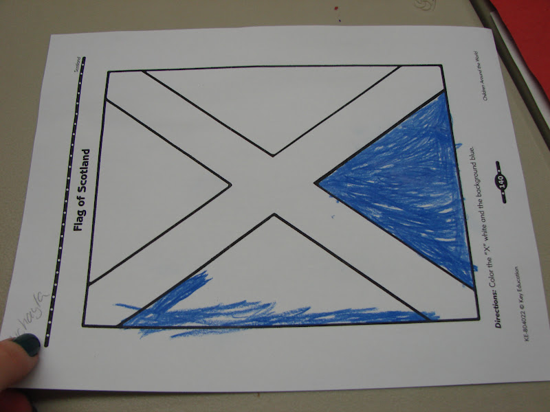 Australian Flag Coloring Page