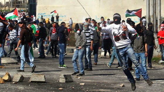 """Protesters in West Bank: America's corporate media tells you these are the """"bad protesters."""""""