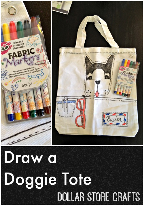 It's easy to customize a plain canvas tote with your favorite drawings and Tulip Fabric Markers