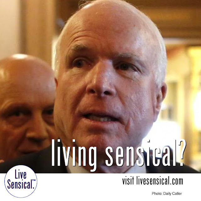 "John McCain - can he ever livesensical.com? ""If someone's a prisoner I would consider that person a war hero. And we have a lot of war heroes that weren't prisoners also. And we should give them credit, too,"" he said."