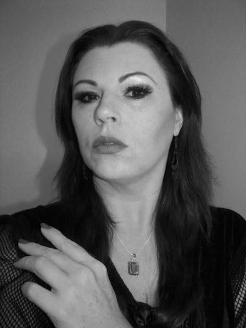 Morticia Addams hair and makeup