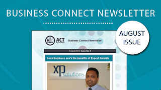 Screenshot of the Business Connect August Newsletter