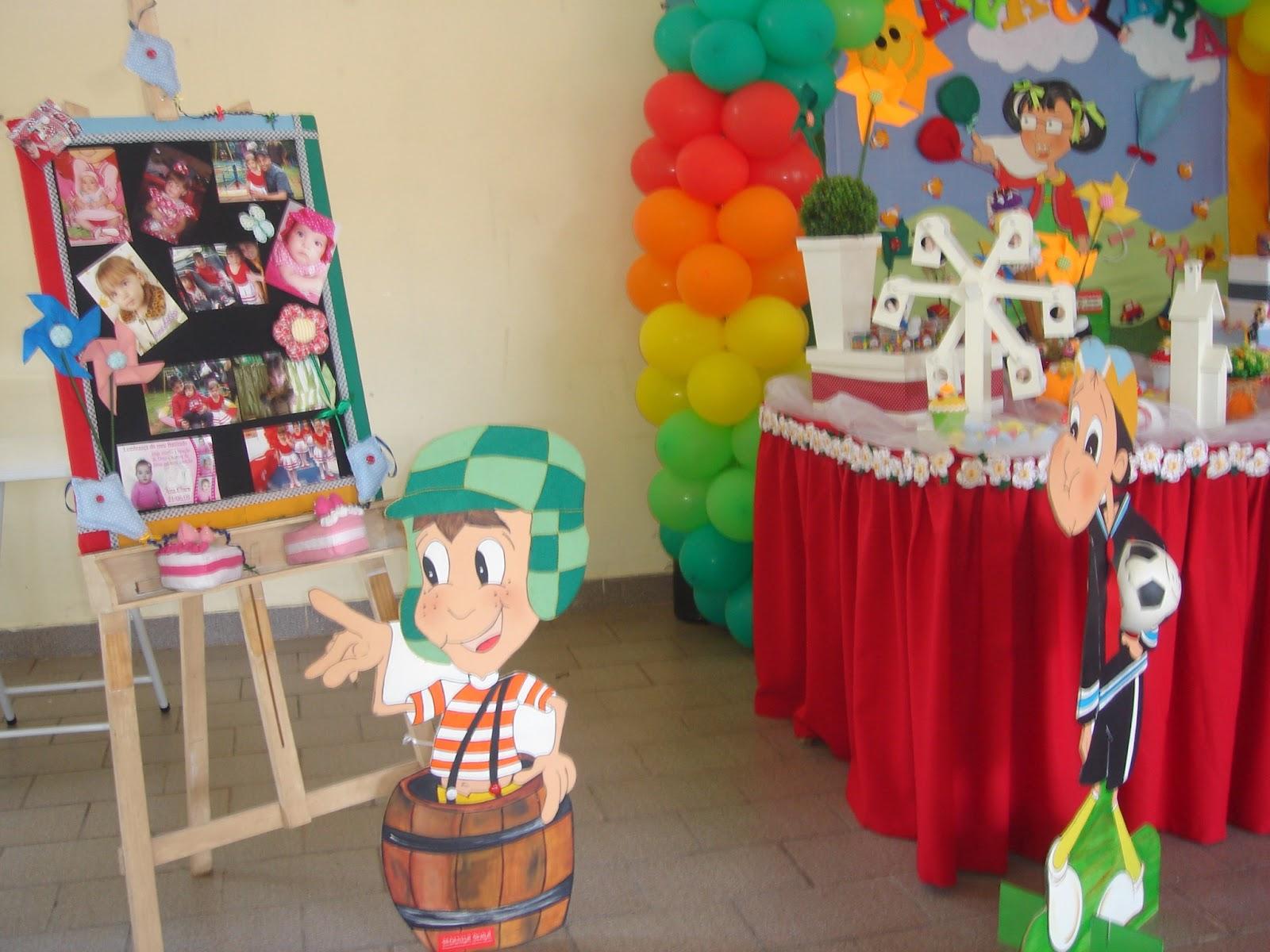DE FESTA INFANTIL Decoração Chiquinha e Chaves  Ana Clara  4 anos