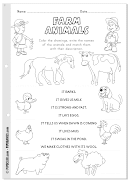 Do you want to color some farm animals and practise reading?