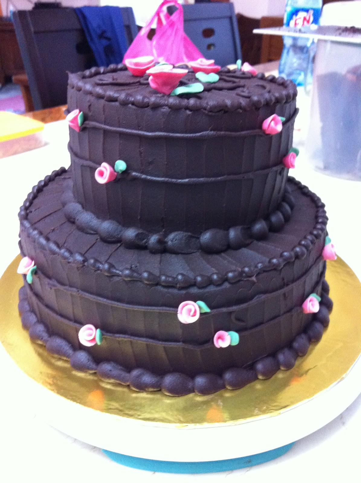 sweet treats choc moist wedding cake delivered to klang