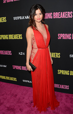 Selena Gomez Sexy Red Dress Spring Breakers Premieres in Hollywood