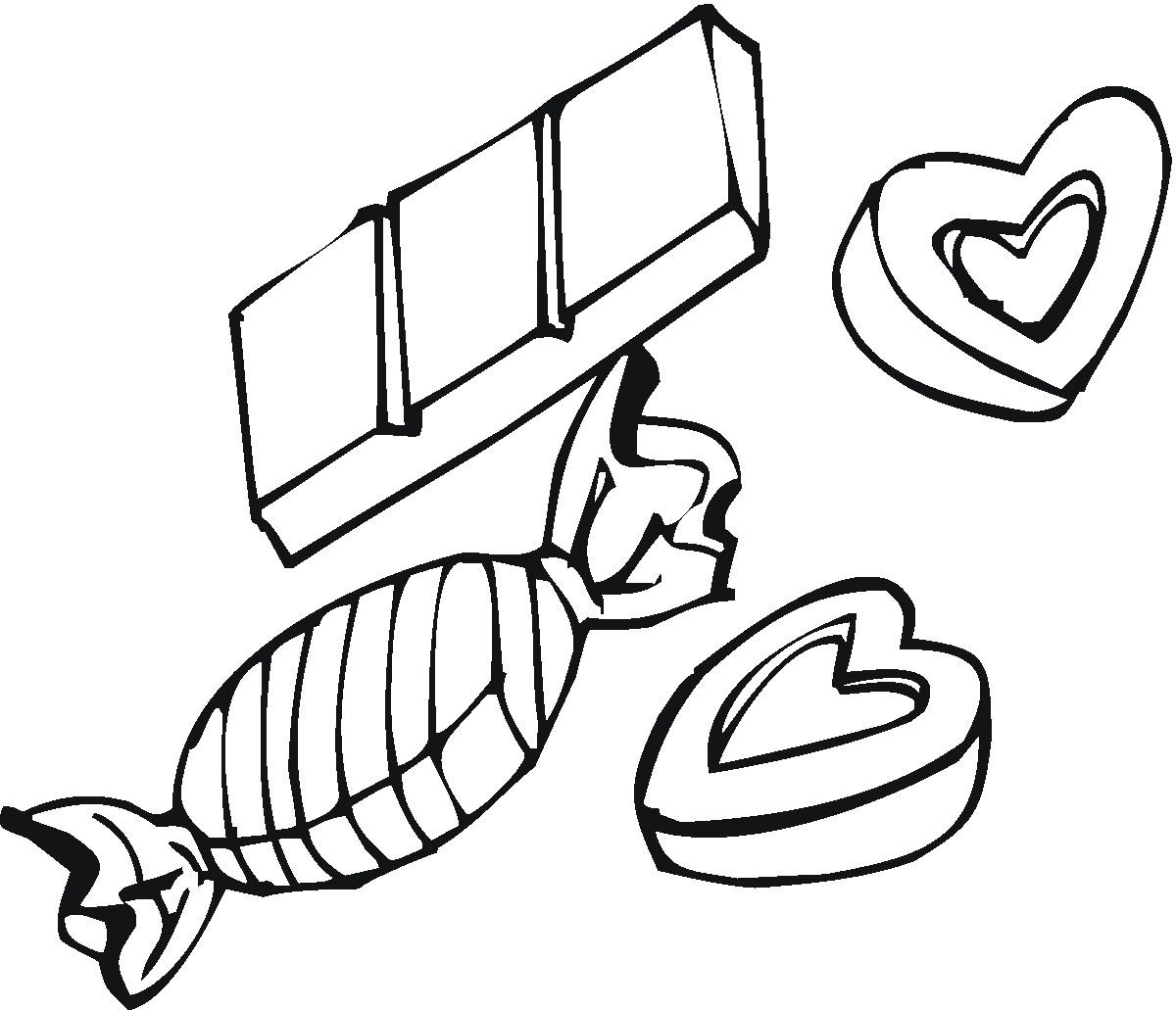 Candy Love Box Coloring Pages Pictures Coloring Pages Chocolate