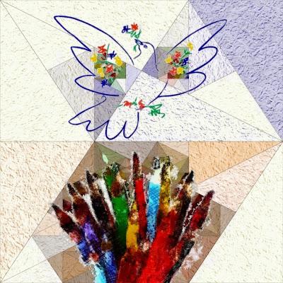 Els meus llapis de colors cerquen el colom de la pau de Pablo Picasso (Cristina Cray)