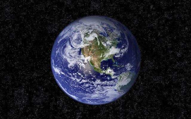 Bureaublad achtergrond van onze Aarde
