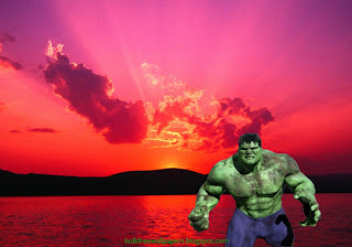 The Incredible Hulk Desktop Wallpapers Hulk Ready to Fight in Sunset background