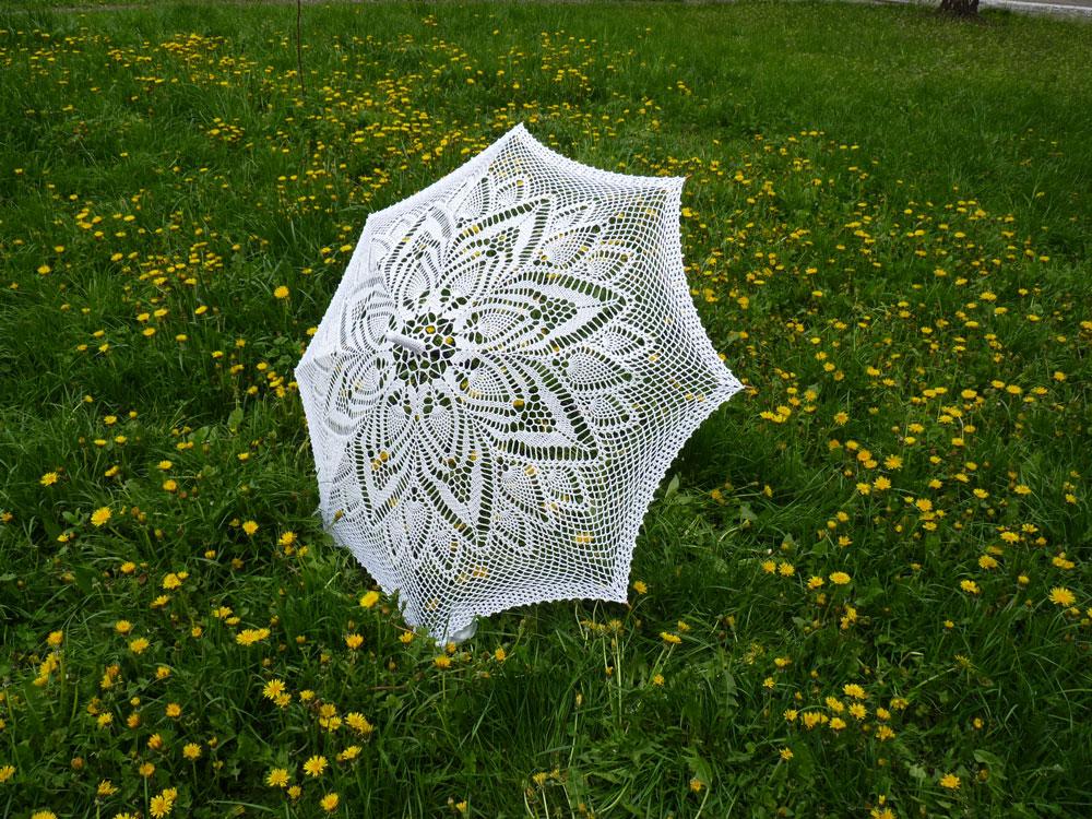 Umbrella Knitting Pattern : Crochet knit unlimited lacy umbrella