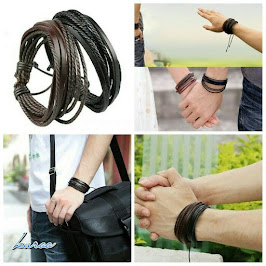 GELANG COUPLE LEATHER KEREN