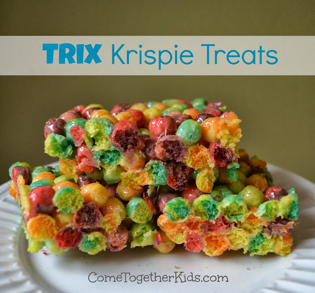 Trix Krispie Treats - fun and colorful alternative to regular Rice Krispie Treats