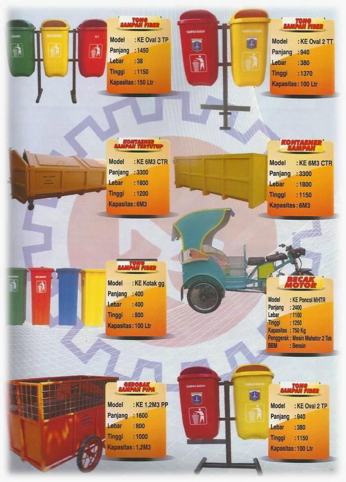 katalog produk gerobak sampah
