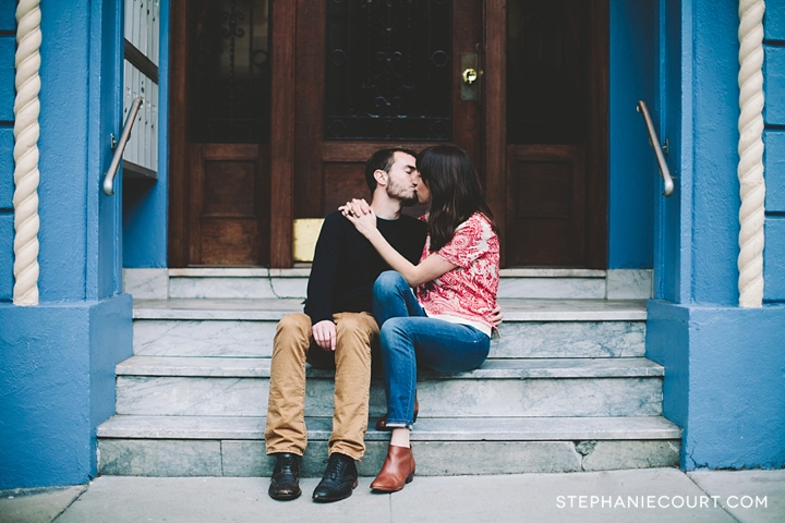 """engagement session in alamo square park"""