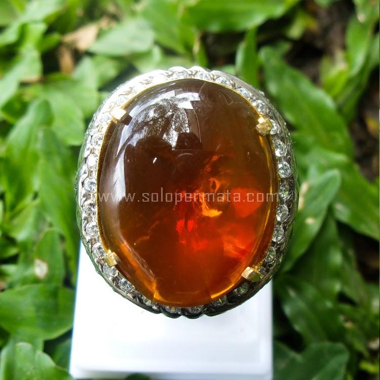 Cincin Batu Permata Fire Opal - SP534