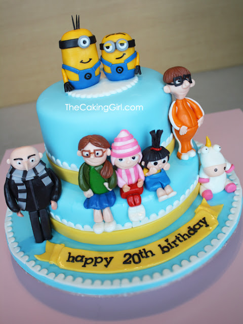 despicable me cake with all characters