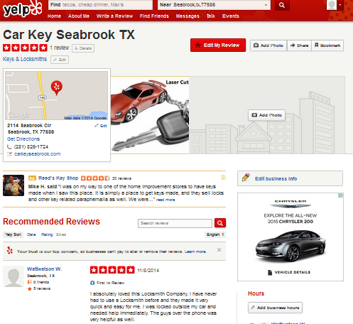 Car Key Seabrook TX