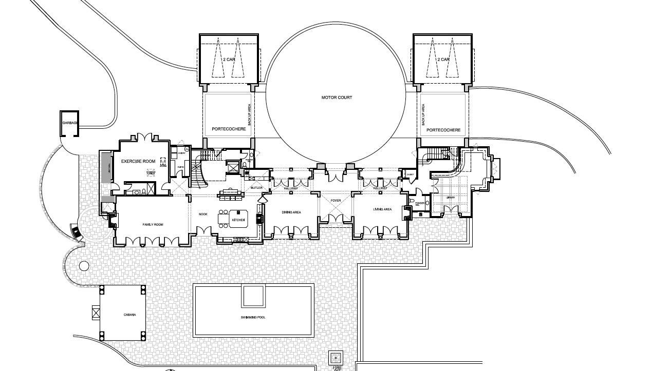 Mansion floor plans 3115 ralston avenue hillsborough for Estate blueprints