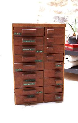 meuble à casier vintage