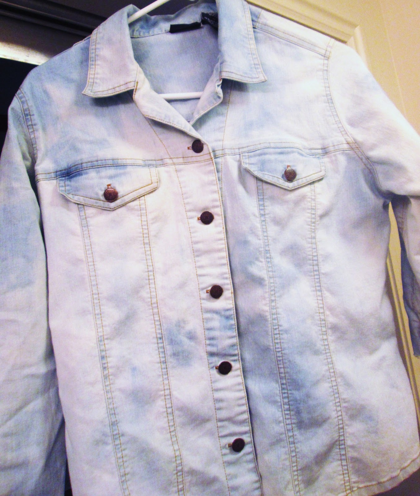 DIY: How to Bleach a Denim Shirt