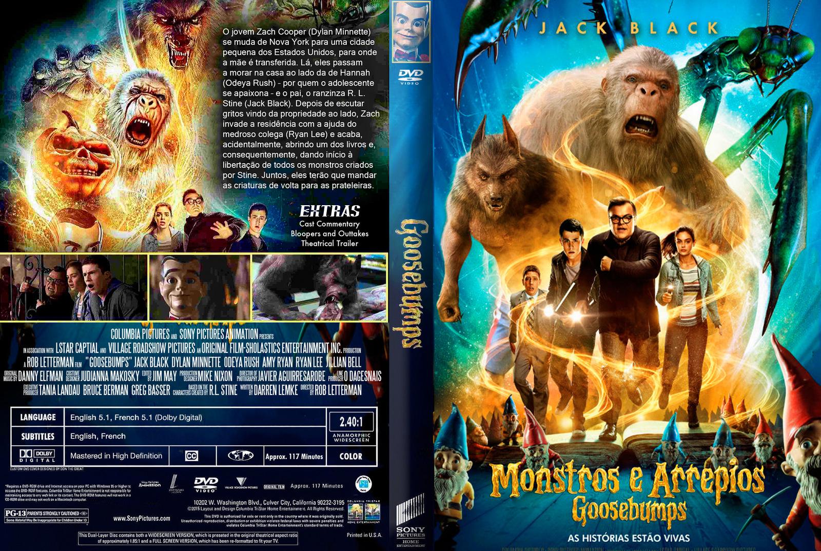 Goosebumps Monstros e Arrepios DVD-R Goosebumps 2BMonstros 2Be 2BArrepios