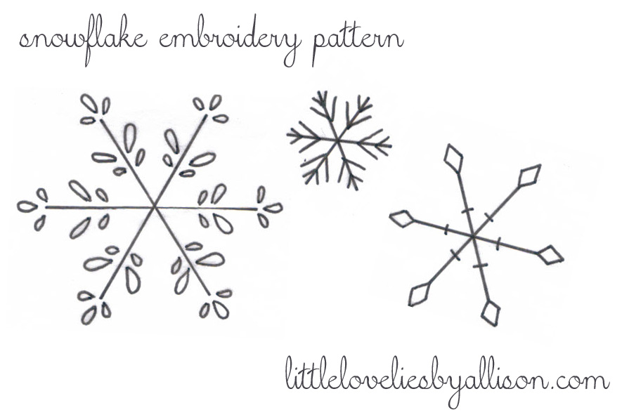 Simple Snowflake Patterns To Trace Trace using a light source and