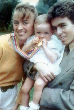 Liz and Peter Mccolgan with their great-looking child