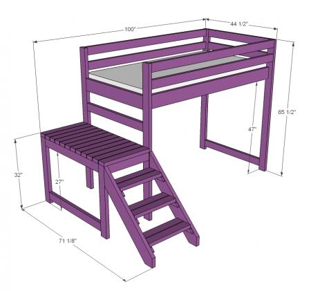 Wholesome Harvest: Building a Loft Bed with Stairs - A DIY Family