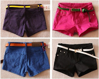 candy color pink shorts