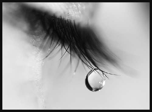 a tear fell