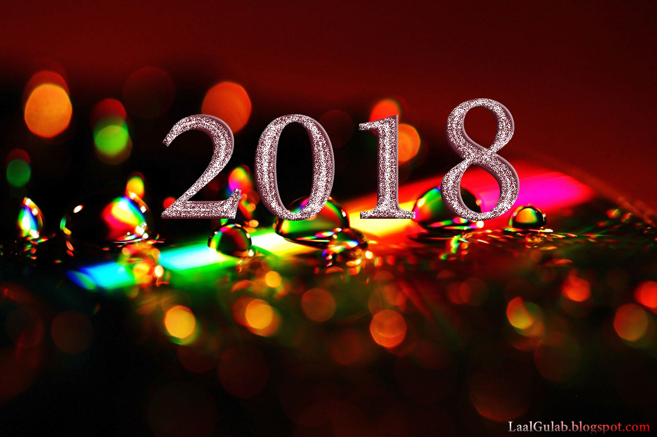 candle light silver pink design happy new year 2018 wallpaper