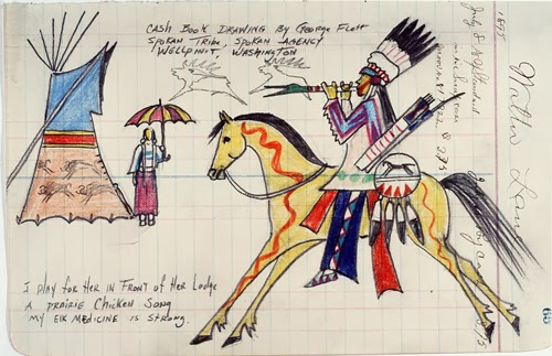 Ledger Art Of Elk : A tribute to george flett spokane ledger artist