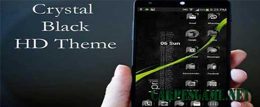 Theme Crystal Black Flat HD v5.4 Full Apk
