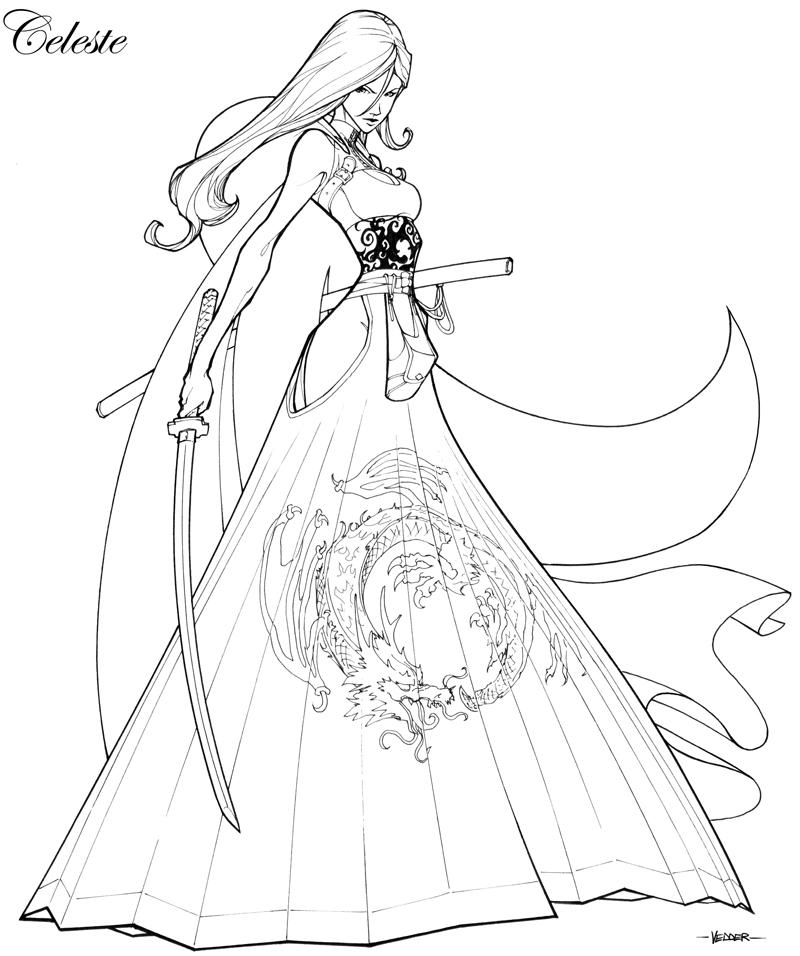 Famoso Lindo Anime Para Colorear Imagen - Dibujos Para Colorear En ...