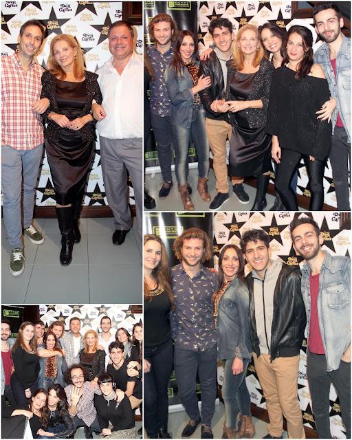 """El elenco de """"4 Cuartos"""" festejó su exito en La Cantina de Don Carlos"""