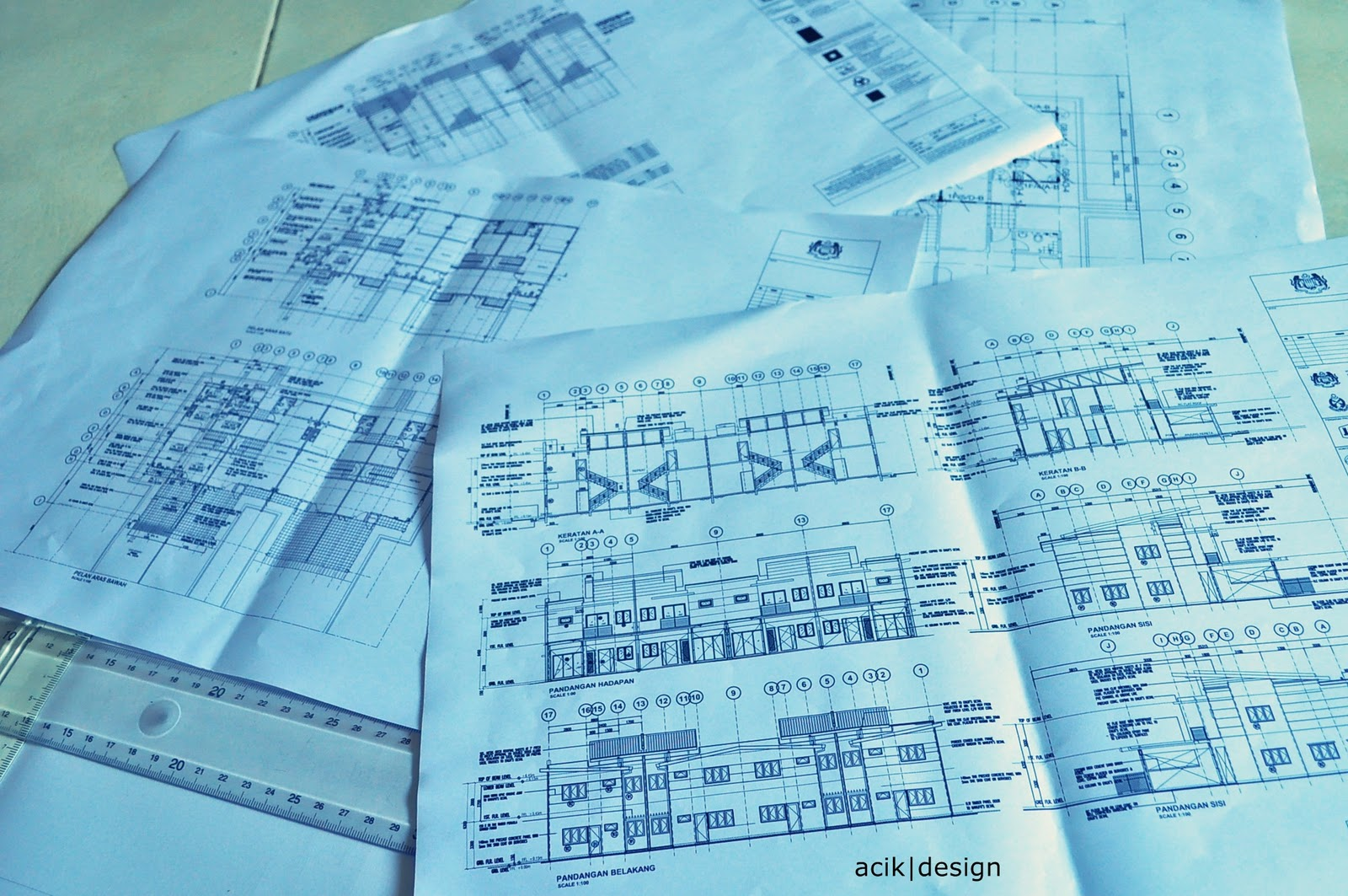 Acik aidil in da house engineering drawing part1 for Plan arkitek
