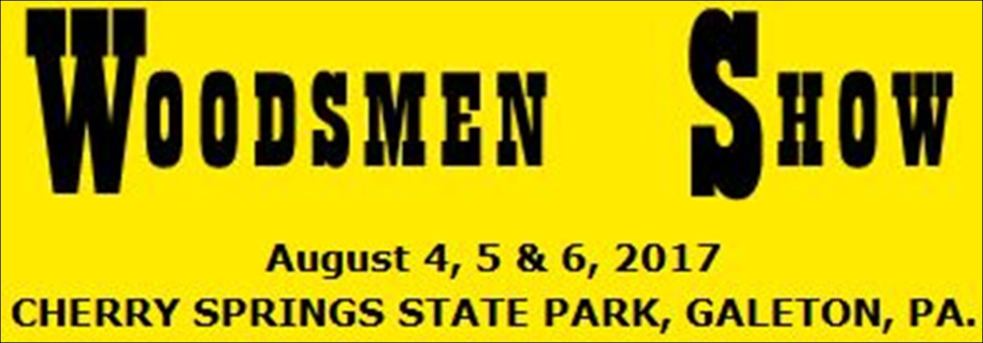 Woodsmen Show at Cherry Springs State Park