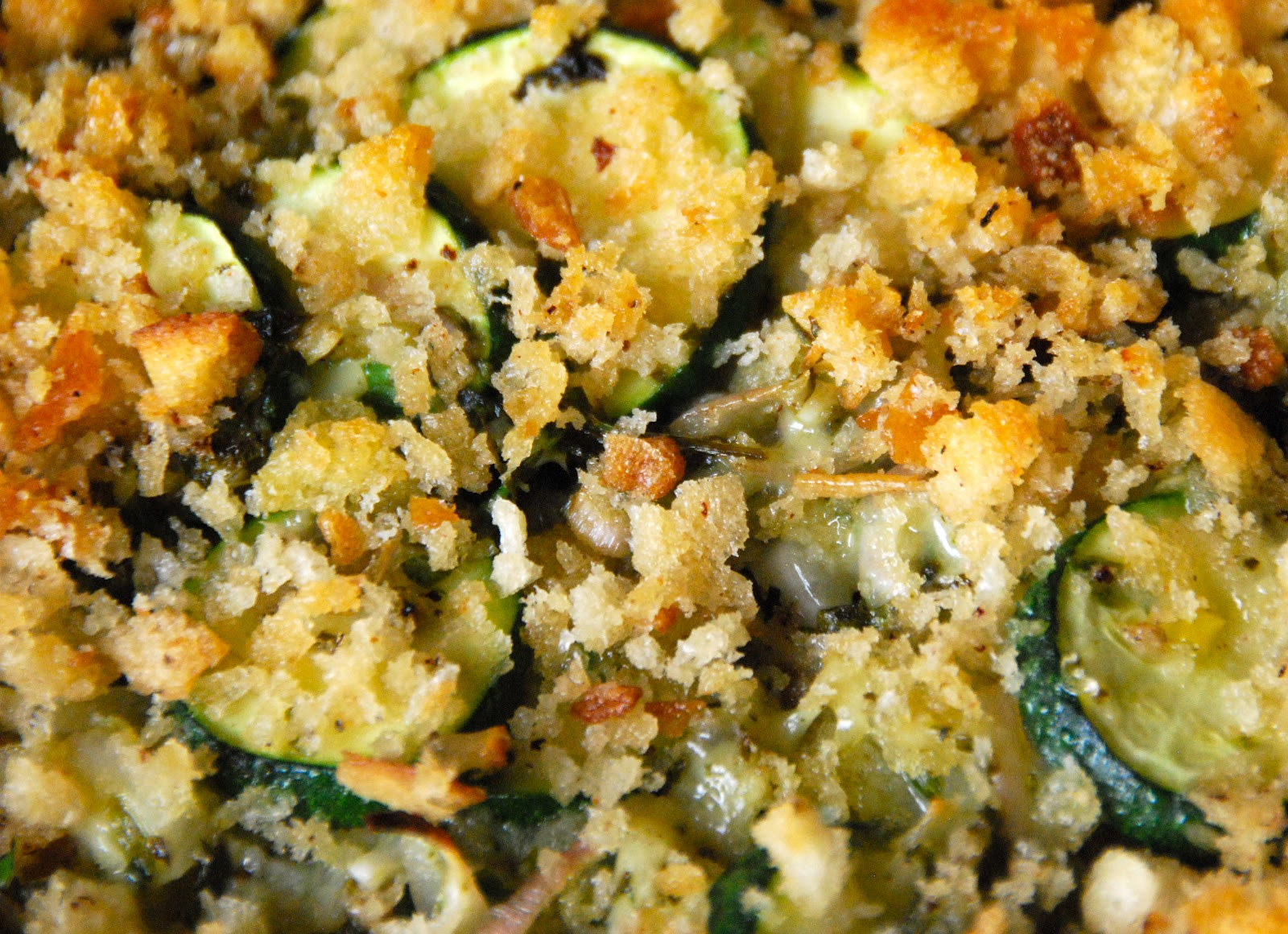 Cooking with Larue: Summer Squash Gratin with Green Salsa & Gruyere