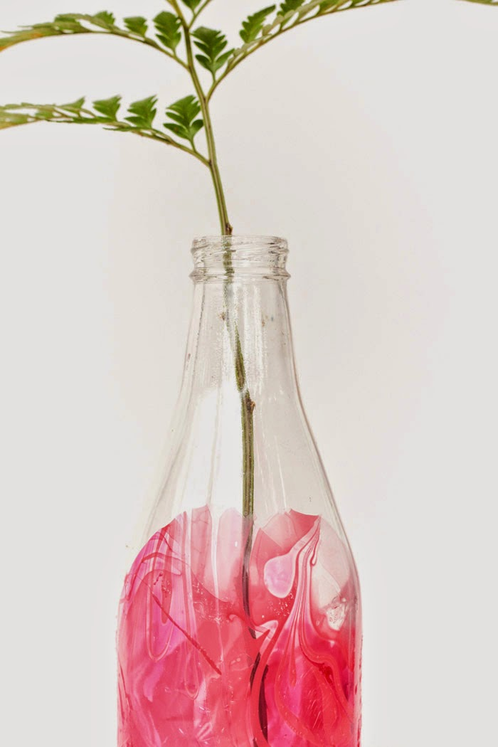 Diy Marble Dipped Vase Poppytalk