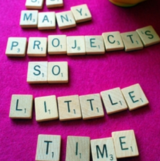 scrabble letters, so many projects so little time