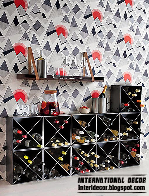 bottle rack in sight, Bar cabinets and Wine racks for modern home