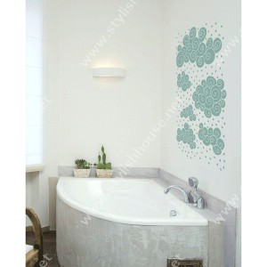 Stylish clouds drawings wall stickers drawings for bathroom decorating